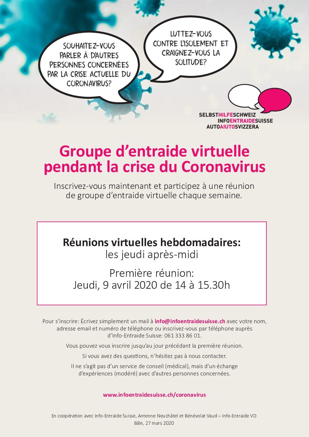 Info-Entraide Suisse | Groupe d'entraide virtuelle pendant la crise du Coronavirus